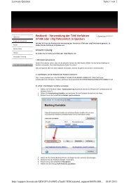 Anleitung mobileTAN mit Quicken