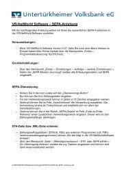 VR-NetWorld Software – SEPA-Anleitung