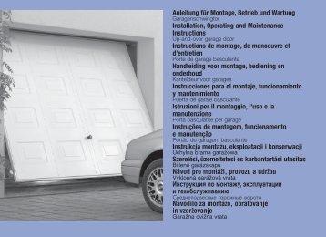 Anleitung für Montage, Betrieb und Wartung ... - Hormann.be