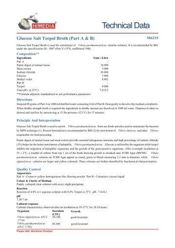 Glucose Salt Teepol Broth (Part A & B) - HiMedia Laboratories