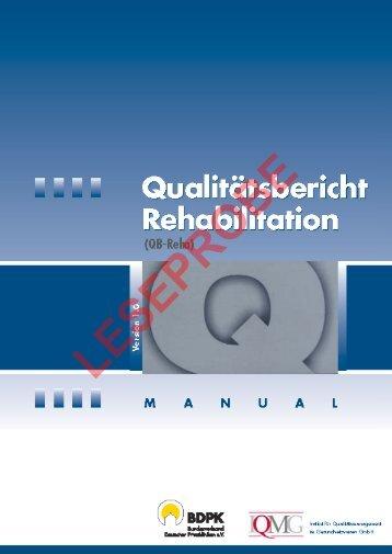 Qualitätsbericht Rehabilitation (QB-Reha) - IQMG Institut für ...