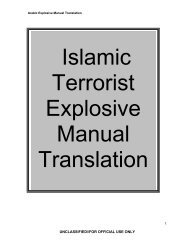 Islamic Terrorist Explosive Manual Translation - Public Intelligence