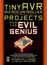 tinyAVR Microcontroller Projects for the Evil Genius™ - Inventors ...
