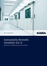 Automatische Hermetik- Schiebetür SLX-D - Langersystems