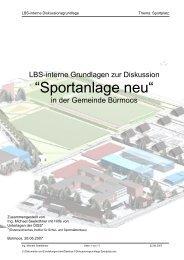 """Sportanlage neu"" - Liste Bürmoos"