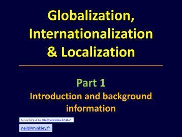 Globalization, Internationalization & Localization - Neil Minkley