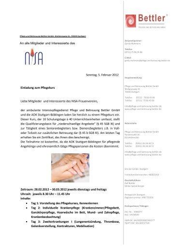 Qualifikation Seniorenbegleiterin - Nisafrauenverein.de