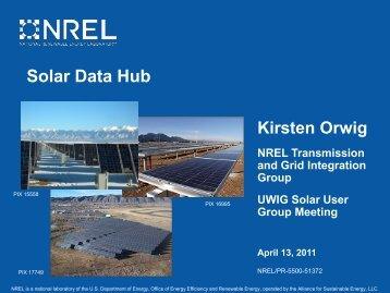 Solar Data Hub (Presentation), National Renewable Energy ... - NREL