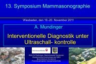 Interventionelle Diagnostik unter Ultraschall- kontrolle