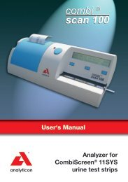 User's Manual Analyzer for CombiScreen® 11SYS ... - DoctorShop