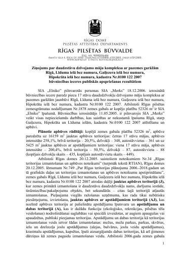 rīgas pilsētas būvvalde - Rīgas domes Pilsētas attīstības departaments
