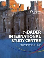 the BADER INTERNATIONAL STUDY CENTRE - Queen's University