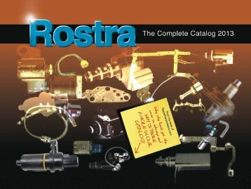 2013 Transmission Product Catalog Now Available! - Rostra ...