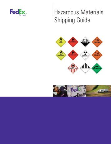 Hazardous Materials Shipping Guide - Industrial Safety and Hazmat ...