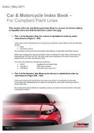 Car & Motorcycle Index Book – For Compliant Paint Lines
