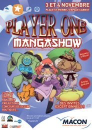 Programme du salon Player One Manga Show - Mâcon