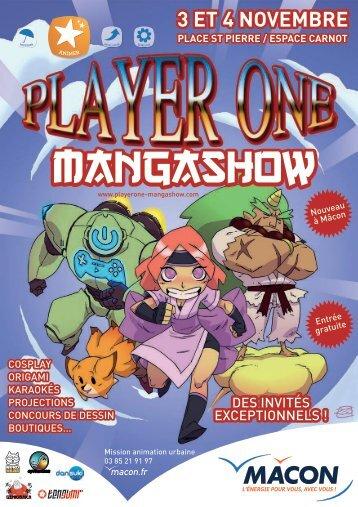 Programme du salon Player One Manga Show - Mâcon