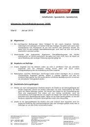 Allgemeine Geschäftsbedingungen - Stenzel Werkzeugtechnik