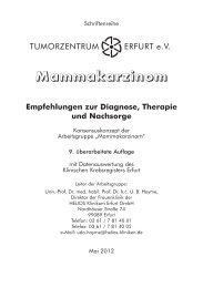 Mammakarzinom Empfehlungen zur Diagnose, Therapie und ...