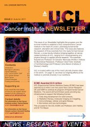 Cancer Institute NEWSLETTER - UCL