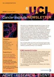 Cancer Institute NEWSLETTER - UCL Advanced Diagnostics