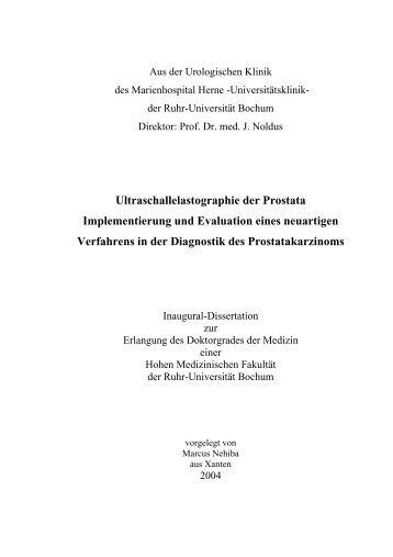 Aus der Urologischen Klinik - Ruhr-Universität Bochum