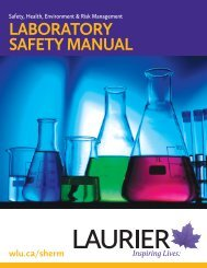 LABORATORY SAFETY MANUAL - Wilfrid Laurier University