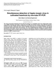 Simultaneous detection of Apple mosaic virus in cultivated hazelnuts ...