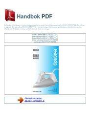 Bruker manual BRAUN OPTISTYLE - HANDBOK PDF