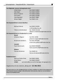Leitungsteam - Hauptamtliche - Impressum - Friedenshofwerk