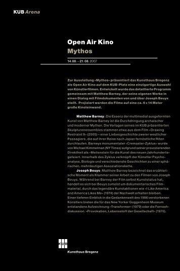 Open Air Kino Mythos