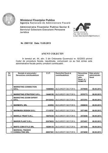 Ministerul Finanţelor Publice - ANAF