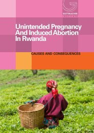 Unintended Pregnancy And Induced Abortion In Rwanda