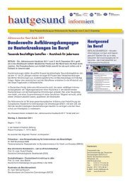 hautgesund informiert - BVDD