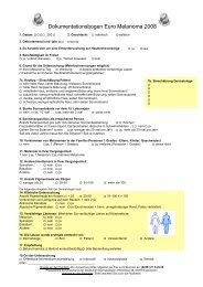 Kopiervorlage Euro Melanoma Untersuchungsbogen