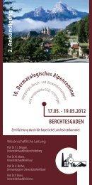 10. Dermatologisches Alpensem inar 17.05. - 19.05.2012 ...