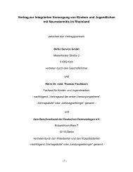 Der IV-Vertrag Neurodermitis bei Kindern und Jugendlichen ... - BVDD