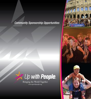 Download our Sponsorship Brochure - Up with People