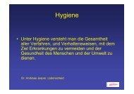 Vortrag Hygiene Jesper 08.09.07