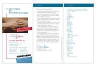 11. Jahrestagung der Berliner Dermatologen - BVDD