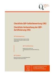 Checkliste QEP-Selbstbewertung (SB) Checkliste ... - BVDD