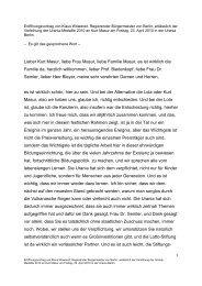 Rede Klaus Wowereit - Urania