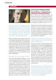 Interview mit Starfotograf Wolfgang Wilde, 02/09 - Urania