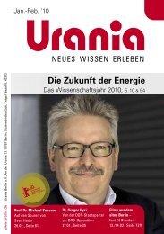Die Zukunft der Energie - Urania