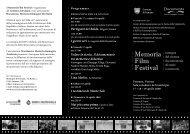 vai al deplian del Memoria Film Festival 2009 - Associazione ...