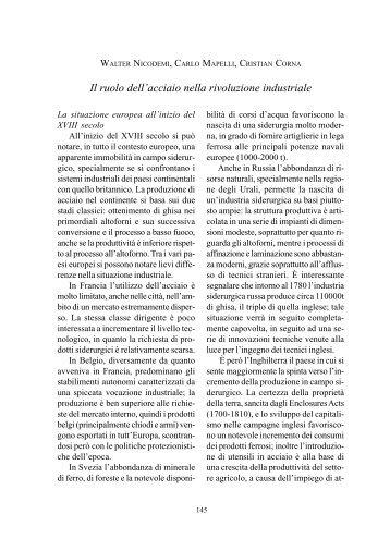 Il ruolo dell'acciaio nella rivoluzione industriale - AISI