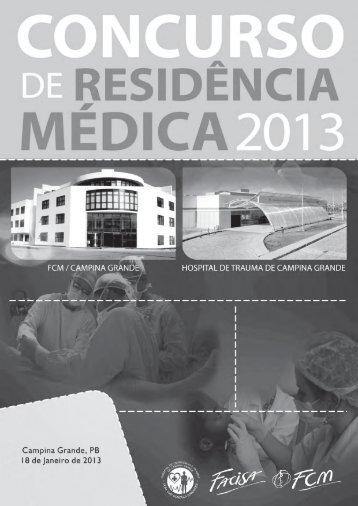 Prova Residência Médica - 2013.1