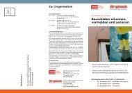 Bauschäden erkennen, vermeiden und sanieren Zur Organisation