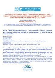 Il consumo di latte Parmalat Omega 3 aumenta significativamente i ...