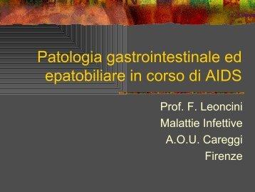 Patologia gastrointestinale ed epatobiliare in corso di AIDS